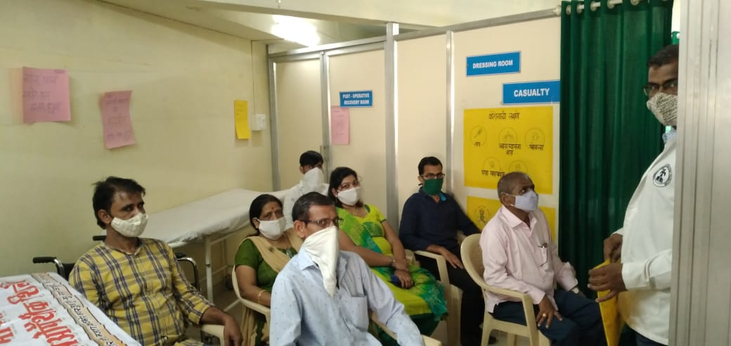 Covid training session conducted for opd patients